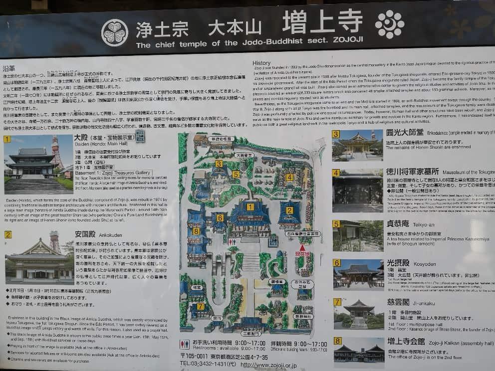 増上寺地図