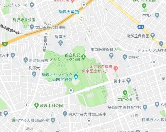 駒沢公園大地図