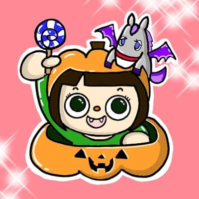 アイコン秋かぼちゃ背景あり